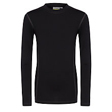 Buy School Baselayer, Black Online at johnlewis.com