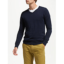 Buy Scotch & Soda Melange V-Neck Jumper, Night Online at johnlewis.com