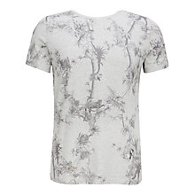 Buy Ted Baker Talaton Printed T-Shirt, Light Grey Online at johnlewis.com