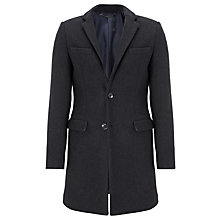 Buy Scotch & Soda Melton Overcoat, Graphite Melange Online at johnlewis.com