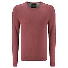 Buy Scotch & Soda Crew Neck Knit Jumper, Boho Brick Melange Online at johnlewis.com