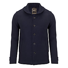 Buy Scotch & Soda Melton Pea Coat, Night Melange Online at johnlewis.com