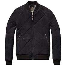 Buy Scotch & Soda Suede Quilted Jacket, Night Online at johnlewis.com