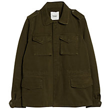 Buy Mango Military Trench Jacket, Beige / Khaki Online at johnlewis.com