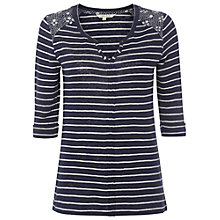 Buy White Stuff Paradise Stripe Tee, Navy Online at johnlewis.com
