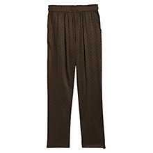Buy Mango Printed Baggy Trousers, Beige / Khaki Online at johnlewis.com