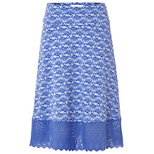 Buy White Stuff Forest Flower Jersey Skirt, Persian Purple Online at johnlewis.com