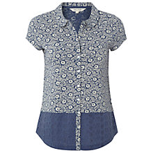 Buy White Stuff Elexa Jersey Shirt, Blue Online at johnlewis.com