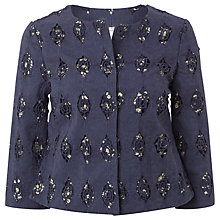 Buy White Stuff Hale Broderie Jacket, Night Sky Blue Online at johnlewis.com