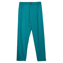 Buy Violeta by Mango Flowy Baggy Trousers, Emerald Online at johnlewis.com