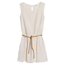 Buy Mango Embroidered Dress, Light Beige Online at johnlewis.com