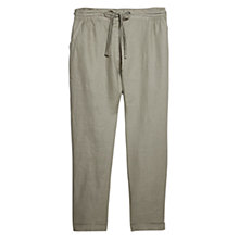 Buy Violeta by Mango Linen Baggy Trousers, Beige / Khaki Online at johnlewis.com