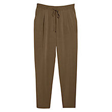 Buy Mango Flowy Trousers, Khaki Online at johnlewis.com
