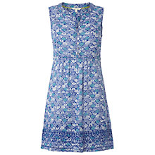 Buy White Stuff Graphic Fan Tunic Dress, Cobalt Online at johnlewis.com