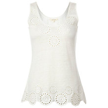 Buy White Stuff Linen Rejoice Vest Top, Natural Online at johnlewis.com