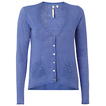 Buy White Stuff Floridana Linen Cardigan, Kiwi Online at johnlewis.com