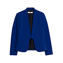 Buy Mango Inverted Lapels Blazer, Bright Blue Online at johnlewis.com