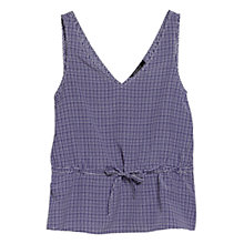 Buy Mango Printed Vest Top, Bright Blue Online at johnlewis.com