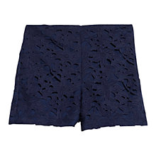 Buy Mango High Waist Shorts, Dark Blue Online at johnlewis.com