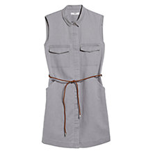 Buy Mango Sleeveless Linen-Blend Shirt Dress Online at johnlewis.com