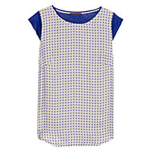 Buy Violeta by Mango Printed T-Shirt, Medium Blue Online at johnlewis.com