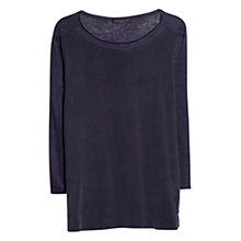 Buy Violeta by Mango Cupro Panel T-Shirt, Navy Online at johnlewis.com