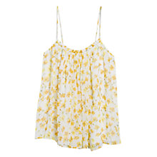 Buy Mango Flowy Floral Camisole, Yellow Online at johnlewis.com
