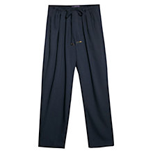 Buy Violeta by Mango Flowy Baggy Trousers, Navy Online at johnlewis.com
