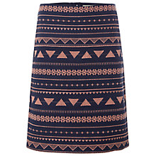 Buy White Stuff Islander Embroidered Skirt, Dark Pacific Blue Online at johnlewis.com