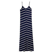 Buy Mango Striped Long Dress, Navy Online at johnlewis.com