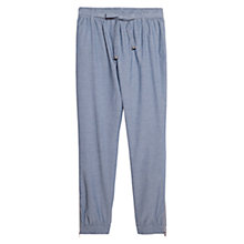 Buy Violeta by Mango Bow Baggy Trousers, Open Blue Online at johnlewis.com