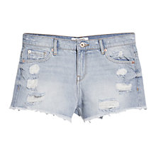Buy Mango Light Wash Denim Shorts, Open Blue Online at johnlewis.com