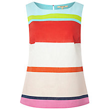 Buy White Stuff Island Stripe Vest, Paradise Coral/Multi Online at johnlewis.com