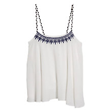 Buy Mango Embroidered Strap Top Online at johnlewis.com