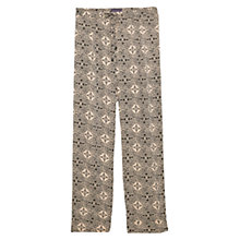Buy Violeta by Mango Baroque Print Trousers, Beige/Multi Online at johnlewis.com
