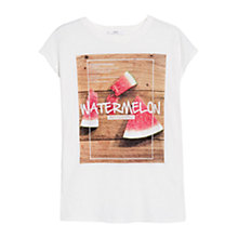 Buy Mango Fruit Print Message T-Shirt Online at johnlewis.com