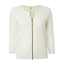 Buy White Stuff Island Zip Cardigan, White Online at johnlewis.com