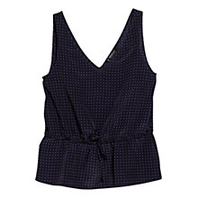 Buy Mango Printed Top, Navy Online at johnlewis.com