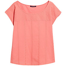 Buy Violeta by Mango Embroidered Panel T-Shirt Online at johnlewis.com