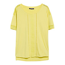 Buy Violeta by Mango Openwork Trim Blouse Online at johnlewis.com