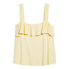 Buy Mango Ruffled Strap Top, Yellow Online at johnlewis.com