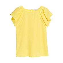 Buy Mango Ruffle Sleeve Top Online at johnlewis.com