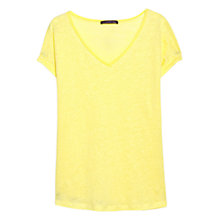Buy Violeta by Mango Linen Trim T-Shirt Online at johnlewis.com