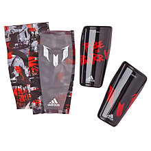 Buy Adidas Performance Messi Pibe de Barrio10 Shin Guards, Black/Red Online at johnlewis.com