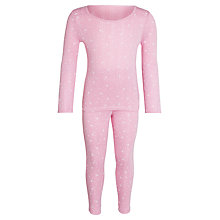 Buy John Lewis Girl Stars Thermal Set, Pink Online at johnlewis.com