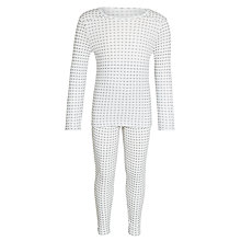 Buy John Lewis Boy Stars Thermal Set, White Online at johnlewis.com