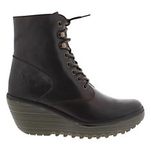 Buy Fly Ygot Leather Lace Up Ankle Boots Online at johnlewis.com