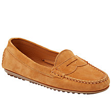 Buy John Lewis Granada Suede Moccasins, Tan Online at johnlewis.com