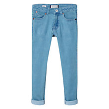 Buy Mango Kids Boys' Slim Fit Jeans, Green Online at johnlewis.com