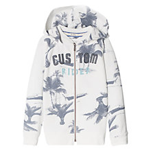 Buy Mango Kids Boys' Palm Tree Hoodie, White Online at johnlewis.com
